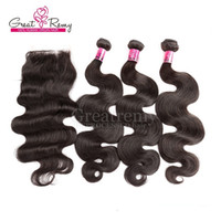 Greatremy® Top Closure(4*4) With 3pcs Bundles Full Head 7A V...