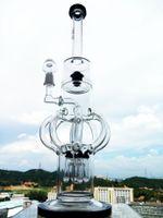 2016 Rasta Bong hbkingbong420 K57 Bong Hoss 5mm verre épais Tall Beaker Bouteille de narguilés 18 pouces de haut Bowl Bubbler taille verre tuyau d'eau