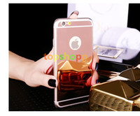 Ultrathin mirror case Electroplated glasses TPU Cosmetic Cas...