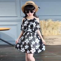 Summer Girl Dress Chiffon Casual Children Clothing O- Neck Ca...