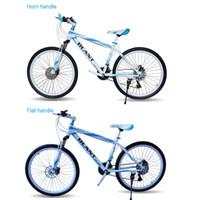 Vélo de vélo de montagne 26 pouces 21 vitesses à double amortissement freins à disque double
