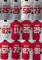 Women Ladies Football Stitched Chiefs #11 Smith #25 Charles ...