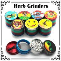 2016 Nouveaux modèles multiples Herb Grinders 50mm 3/4 couches métalliques Grinders en alliage de zinc Tabacco Grinder VS sharpstone Lighting Grinders