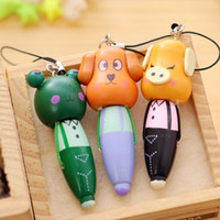 Wood Ballpoint Pen Students Stationery Cartoon Animals Shape...
