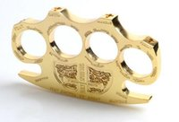 Hell detective Constantine Brass Knuckle dusters Gold Self- d...