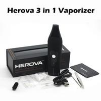 Herova 3 в 1 комплект сухой травы восковое масло Испаритель E Kit сигареты Керамические нагревательными камера 2200mAh Травяной Испаритель Pen Kit