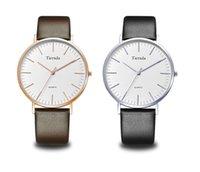 Imperméable Tierxda Mens Sport Business en acier inoxydable quartz analogique montre-bracelet 6047G