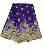 Cherry Lady Purple Color With Flower New Design Bazin riche ...