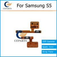 For Power Mute Bouton de commutateur de volume de remplacement Flex Câble ruban samsung pour Samsung Galaxy S5