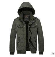 Wholesale Winter Windproof Men Casual Jacket Coat Hooded Jac...