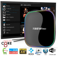 T95W PRO Android OTT TV Box Octa- Core 2G+ 16G Google TV Amlog...