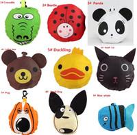 Venda quente 20 estilos Sacos de compras reutilizáveis do saco reusável de Eco do coelho do cão do porco da panda da abelha do animal novo bonito A0136