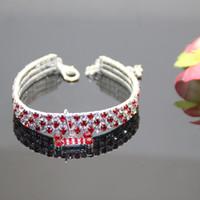 factory direct sales , new listing fashion jewelry 3 row rhin...