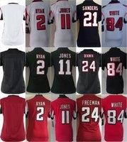 Women Ladies Football Stitched Falcons Blank #2 Matt Ryan #1...