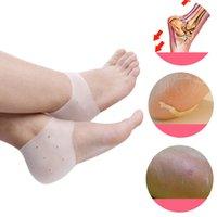 Silicone Heel Protector Socks Moisturizing Gel Heel Cracked ...