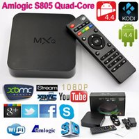 MXQ Android TV Box Quad Core Amlogic S805 MXQ Media Player H.265 XBMC KODI15.2 Предустановленные ТВ Обновление Smart TV Box Google