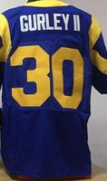 Brand Elite Football Stitched Rams #29 Dickerson 30 Gurley I...
