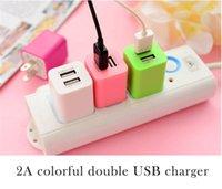 Универсальный 2.1A зарядное устройство США Plug Dual USB адаптер переменного тока 2 порта для iphone 6с плюс для Samsung HTC