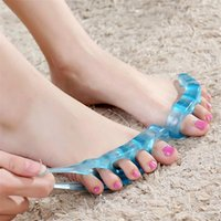 Toe hallux valgus Corrector pé fendido dedo grande do pé dedo do pé dedo do pé sobreposição ortopedia correção correção Toe separador de 2706