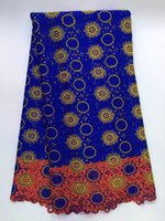 5 Yards pc Noble royal blue flower pattern water soluble gui...