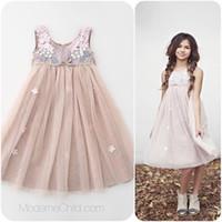 2015 new spring summer girls Childrens Princess sleeveless p...