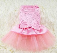 Pet clothing dog clothes tutu drilling than princess wedding...