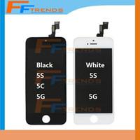 Pour iPhone 5 lcd iPhone 5G iPhone 5S iPhone 5C écran LCD avec écran tactile numériseur écran complet Livraison gratuite