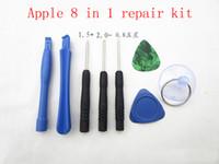 Cell Phone 8 outils Réparateur en 1 Réparation Pry Kit Outils d'ouverture Pentalobe Torx Tournevis plat pour Apple iPhone 4 4S 5 5s 6 Moblie téléphone