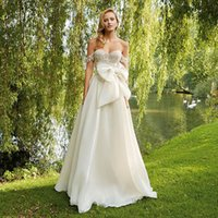 Stunning Bow Wedding Gowns 2016 Lace Tulle off shoulder A- li...