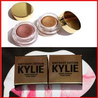 Кайли Eyeshadow 2 цвета День рождения Выпуск Creme Крем для глаз Тени для макияжа OMBRE Creme Медь и розовое золото Kyshadow Kit Косметика В НАЛИЧИИ