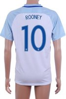 Wholesale Thai Quality 16- 17 home white 10 ROONEY Soccer Jer...