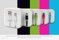 Prix de l'usine! Candy couleur plat Micro USB Data Sync câble de charge du câble de charge adaptateur de chargeur pour Samsung Galaxy S4 S5 S6 HTC Sony LG 100pcs