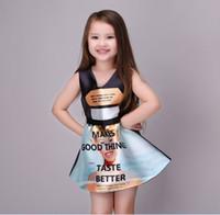 Summer Girls Sleeveless Dresses Letter Print Make Good Thing...