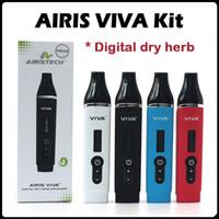 Original Airistech VIVA Dry Vaporisateur d'herbe Vapeur OLED Digital Affichage Chambre de chauffage en céramique complète avec 2200mAh Li-polymère batterie E Cigs