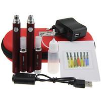 Double MT3 Evod Starter Kit Evod Batterie MT3 atomiseur à double Evod MT3 kit étui à fermeture éclair avec l'expédition eGo Big Case DHL gratuit