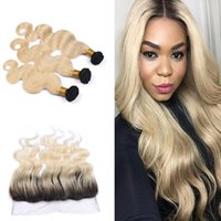 9A Brazilian Body Wave Virgin Hair With Lace Frontal Ombre C...