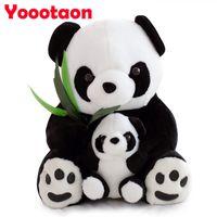 Wholesale- 25cm Sitting Mother and Baby Panda Plush Toys Stuf...