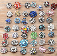 50pcs lot 18MM NOOSA Snap Buttons Rhinestone Chunk Button Bu...