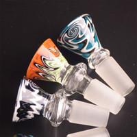 Inversion GLASS BOWL COLOR Type de cône sans poignée Lignes de couleurs mélangées avec joint mâle de 14,5 mm ou 18,8 mm
