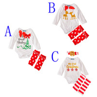baby girls clothing set brand 2016 letter my first christmas...