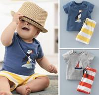 Boys Summer Casual Clothes Set Children Short Sleeve Cartoon...