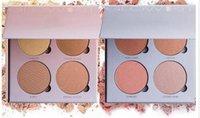 Hot Glow Kit surligneur Powder 4 couleurs de maquillage visage Palette Fard Cosmetic Blush Gleam Ce Glow DHL gratuit
