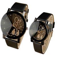 Newest hot sell Lovers' Quartz Watch Women Men Wrist Wa...
