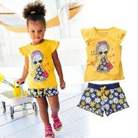 Girls Summer Casual Clothes Set Children Short Sleeve Cartoo...