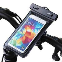 5.8 pulgadas Bicicleta de bicicleta montar el titular del teléfono impermeable caso bolsa de la cubierta de bolsa para iphone 6s 6s más para Samsung S7 / S7 borde
