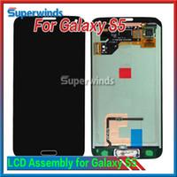 Pour Samsung Galaxy i9600 S5 LCD de remplacement écran tactile LCD d'origine Assemblée avant Digitizer Panneau Verre DHL gratuit