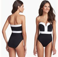 2016 Lady Sexy Swimwear boob Tube Top Bikini One- Pieces Swim...