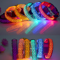 LED Dog Collars Camo Camouflage Pet Print 4 Modes Slow Fast ...
