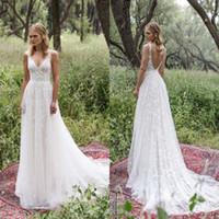 Limor Rosen 2017 New Country Style Wedding Dresses Sexy V Ne...