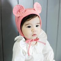 Baby Girls Dot Hats Toddle Infant Newborn Soft Caps With Tie...
